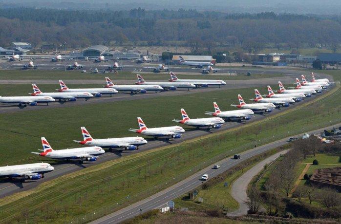 Crisis aerocomercial: 80% de aviones parados y pérdidas por u$s250.000 millones
