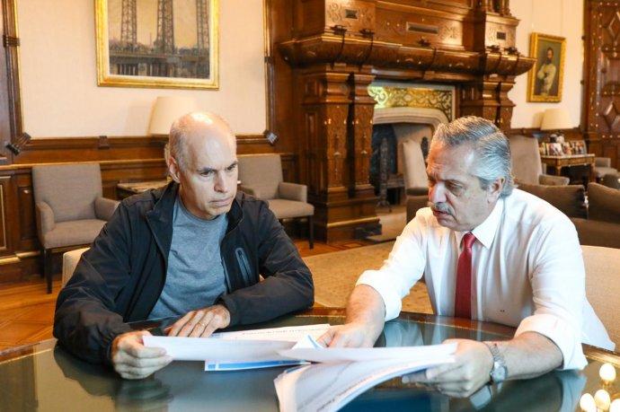 Fernández recibió a Larreta para continuar con la coordinación
