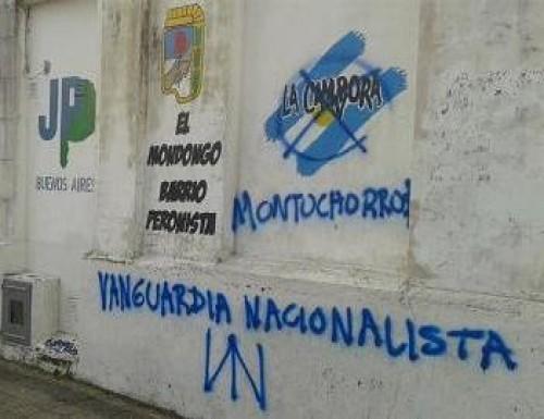 Denuncian que grupo neonazi atacó local de La Cámpora