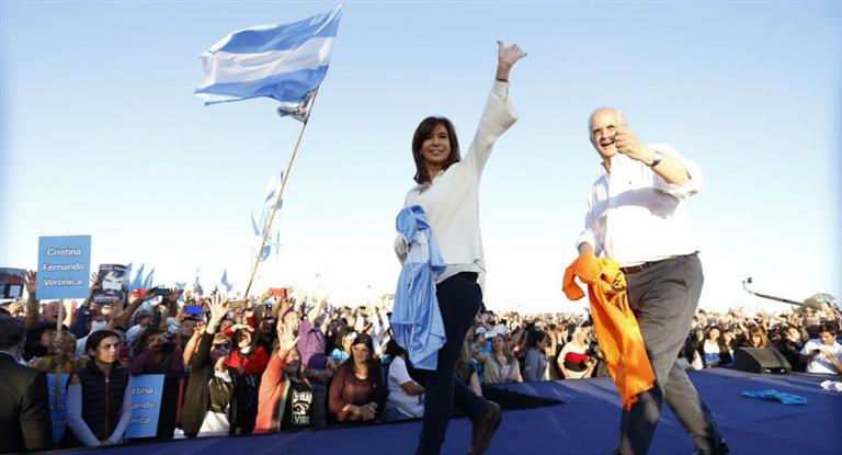 Cristina cerrará su campaña en Racing