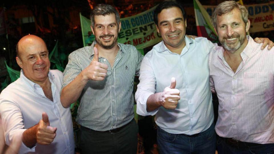 Peña y Frigerio celebraron el triunfo en Corrientes