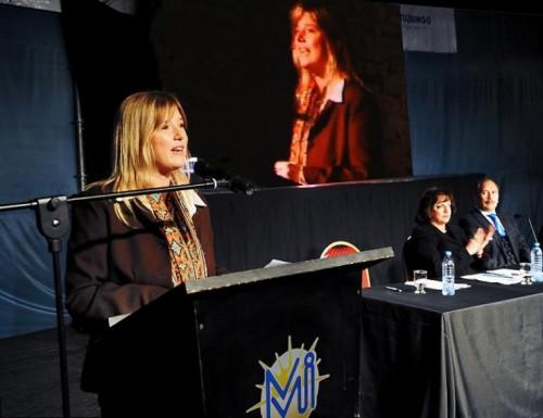 Cristina Álvarez Rodríguez reivindicó el rol de la mujer