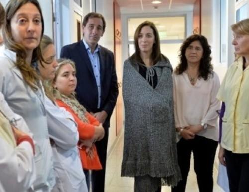 Vidal y Garro en el Hospital de Niños de La Plata