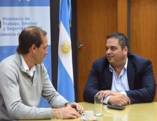 Garro y Triaca se reunieron para analizar la situación del empleo en La Plata
