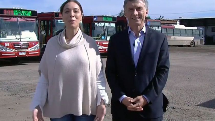 Macri y Vidal compartieron un acto para transmitir unidad ante la crisis