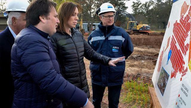Vidal visitó una planta depuradora en General Rodríguez