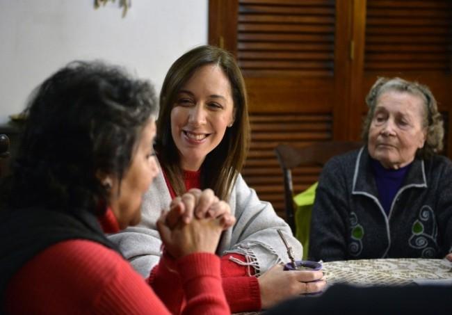 Vidal visitó a jubilados platenses