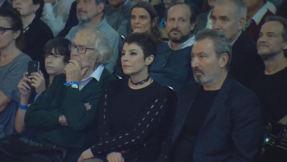 Daniel Vila, en la primera fila del acto de Cristina